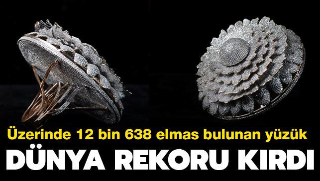 Üzerinde 12 bin 638 elmas taş bulunuyor... Hint tasarımcının yüzüğü dünya rekoru kırdı