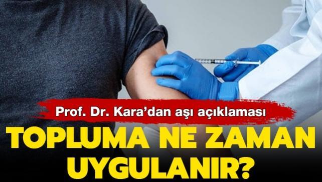 'Aşı 25-26 Aralık'ta yapılmaya başlanır'