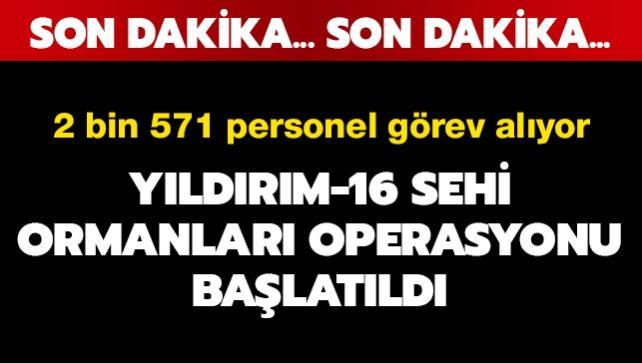 Bitlis'te   Yıldırım-16 Sehi Ormanları  Operasyonu başlatıldı