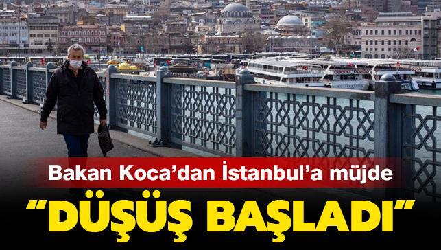 Son dakika haberleri... Bakan Koca'dan İstanbul'a müjde: Düşüş başladı