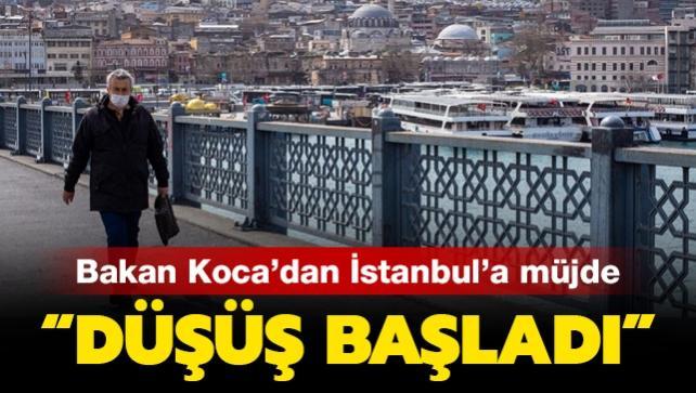 Bakan Koca'dan İstanbul'a müjde: Düşüş başladı