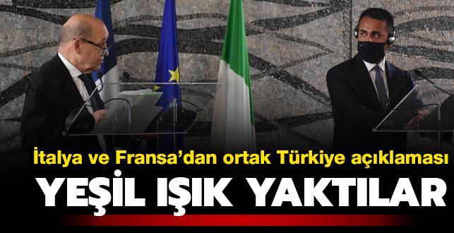 İtalya ve Fransa'dan ortak Türkiye açıklaması: İş birliğini geliştirmek istiyoruz