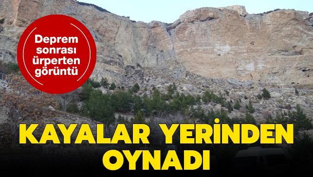Antalya'daki deprem sonrası ürperten görüntü: Kayalar yerinden oynadı