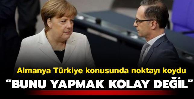 Almanya Dışişleri Bakanı Maas: Türkiye'ye silah ihracatının tümüyle durdurulmasını doğru bulmuyorum