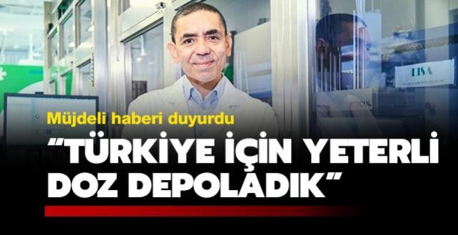BioNTech'in kurucu ortağı Prof. Dr. Şahin: Türkiye için yeterli doz depoladık
