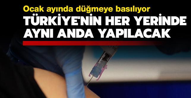 Türkiye'nin aşılama takviminin detayları belli oldu