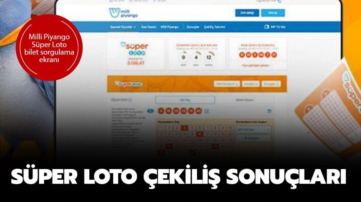 Süper Loto çekilişi MPİ 22 Aralık bilet sonuçları: Süper Loto çekiliş sonuçları sorgula!