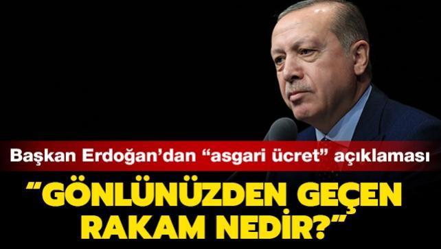 """Başkan Erdoğan'dan son dakika """"asgari ücret"""" açıklaması"""