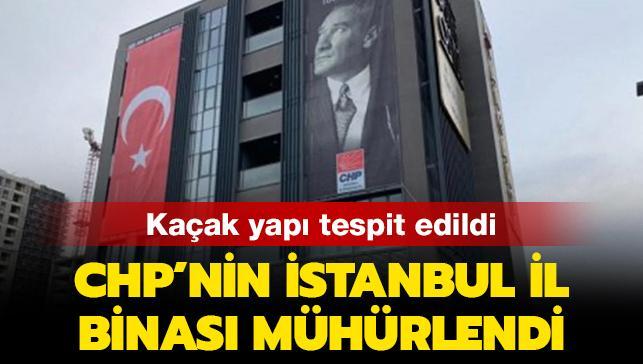 CHP'nin izinsiz tadilat yapılan İl Başkanlığı binası mühürlendi