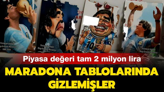 Maradona tablolarında gizlemişler: Piyasa değeri tam 2 milyon lira