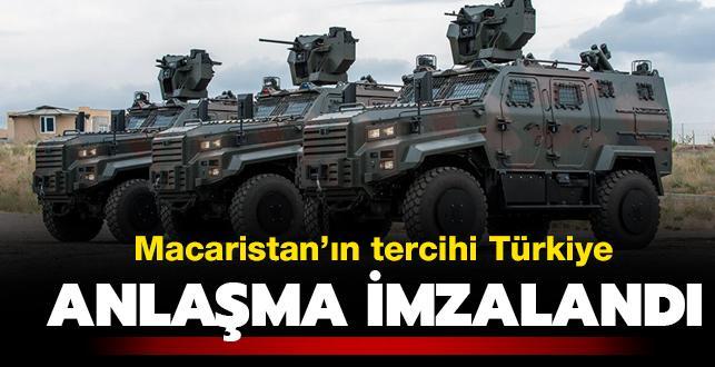 Son dakika haberleri... Macaristan'ın tercihi Türkiye: 40 adet zırhlı araç siparişi verdiler