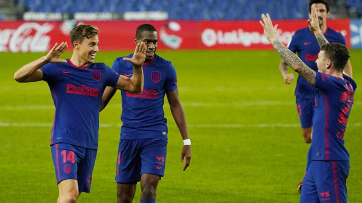 Atlatico Madrid 3 puanı 2 golle kaptı liderliğini perçinledi