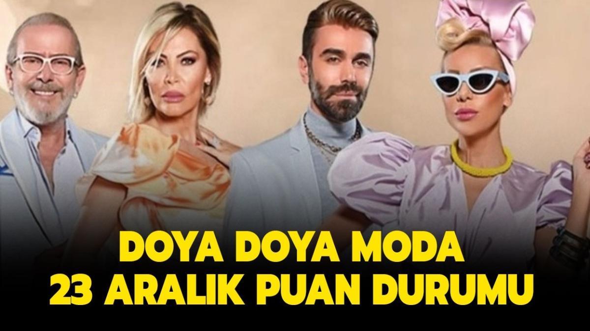 """Doya Doya Moda'da bugün kim birinci oldu"""" Doya Doya Moda 23 Aralık puan durumu nasıl"""""""