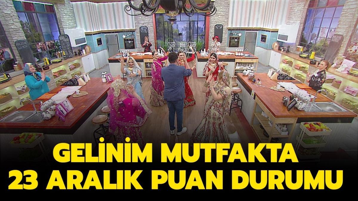 """Gelinim Mutfakta 23 Aralık puanları açıklandı! Gelinim Mutfakta dün birincisi kim oldu"""""""