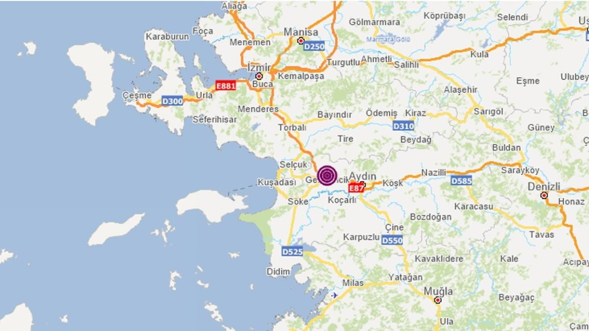 Son dakika deprem haberleri... Aydın Germencik'te 3.7 büyüklüğünde deprem