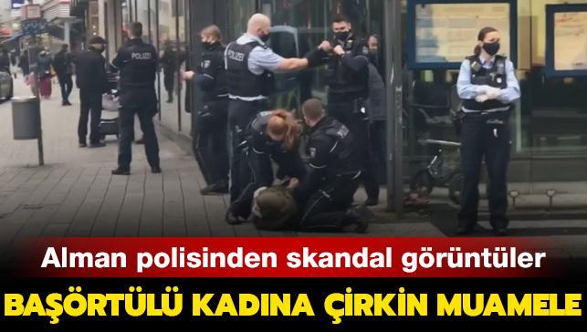 Alman polisinden başörtülü kadına skandal şiddet: Bebeğinin önünde işkence eder gibi davrandılar...