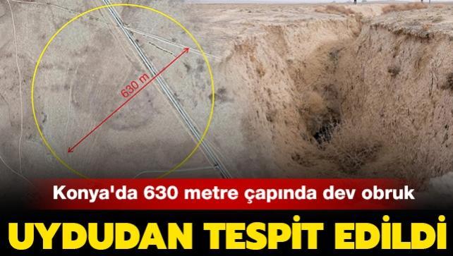Karapınar'da yine obruk tespit edildi: Bu kez üzerinden yol geçiyor