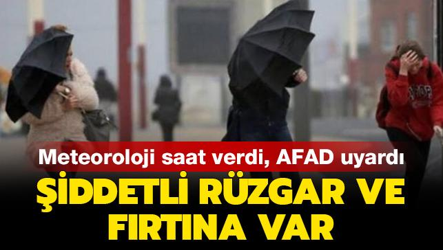 Meteoroloji ve AFAD'tan son dakika İstanbul uyarısı