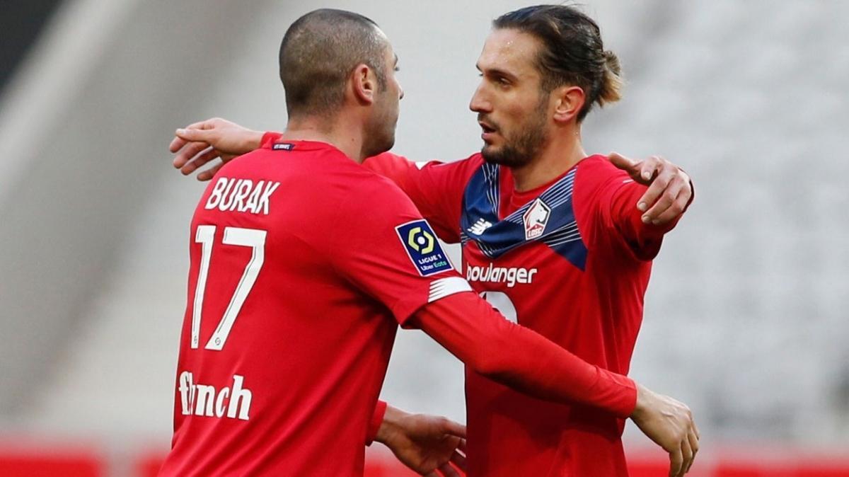 Burak Yılmaz'ın golü Lille'e galibiyeti getirdi