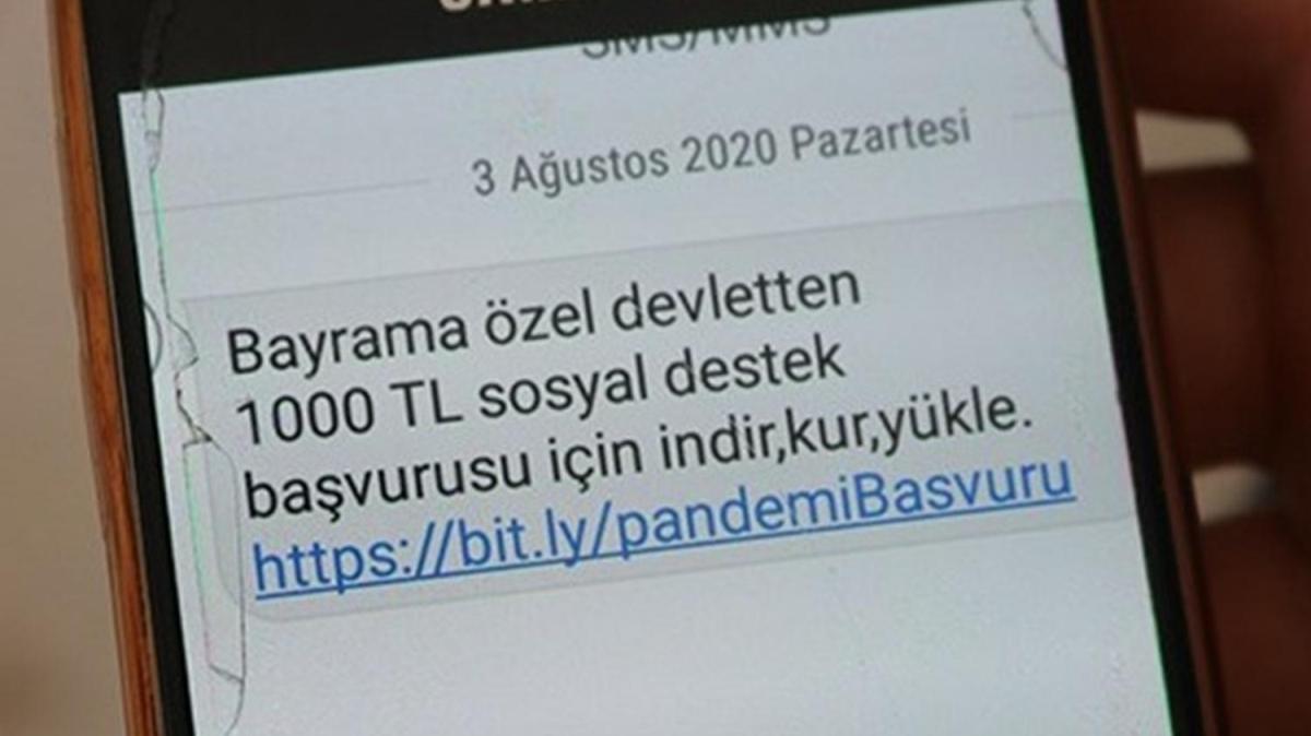 """""""Devletten 1000 TL destek"""" mesajına 21 gözaltı"""