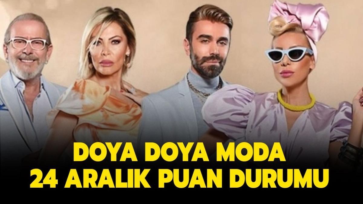 """Doya Doya Moda gün birincisi kim"""" Doya Doya Moda 24 Aralık puan durumu nasıl"""""""