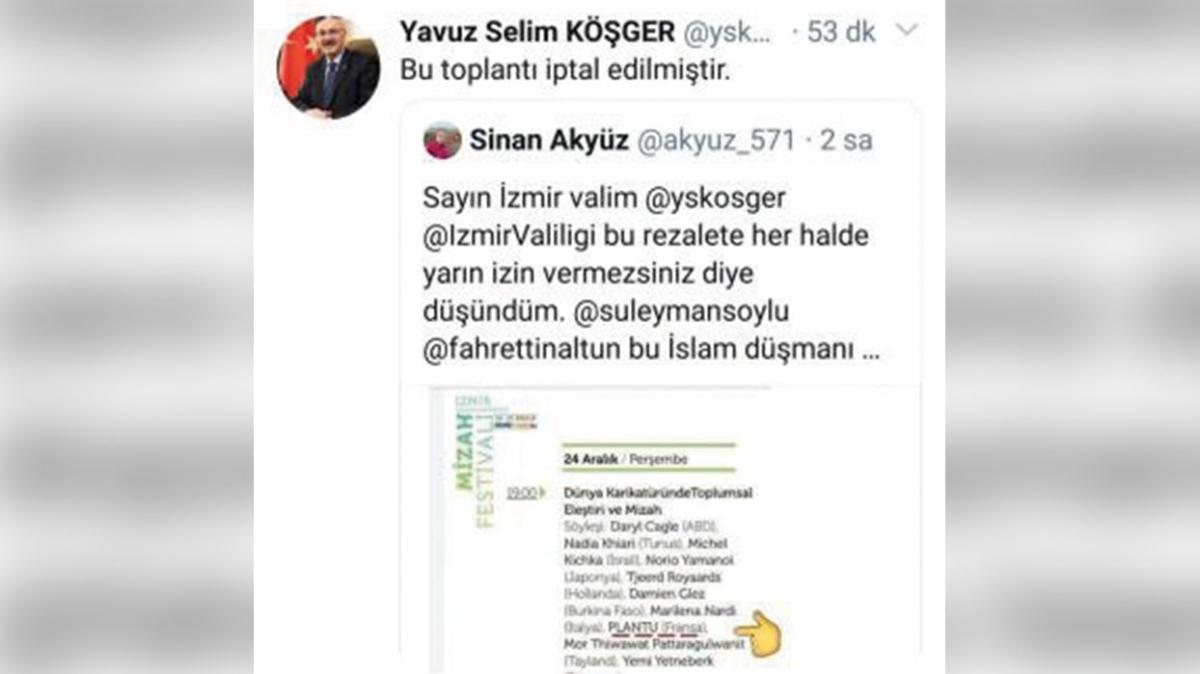İzmir'de skandal festival programı iptal edildi