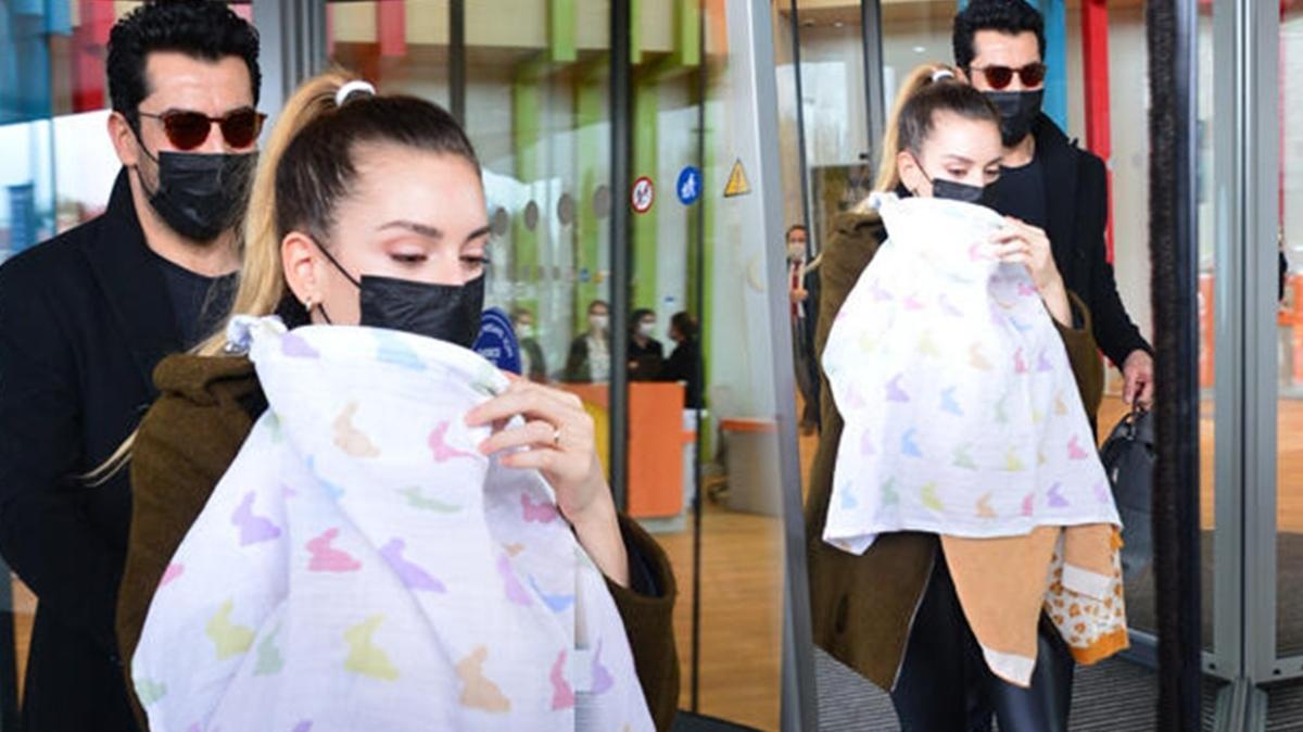 Kenan İmirzalıoğlu ve Sinem Kobal, Lalin'i kontrole götürdü