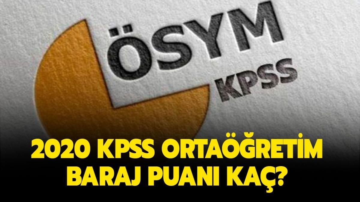 """KPSS ortaöğretim atanmak için kaç puan almak lazım"""" 2020 KPSS baraj puanı kaç"""""""