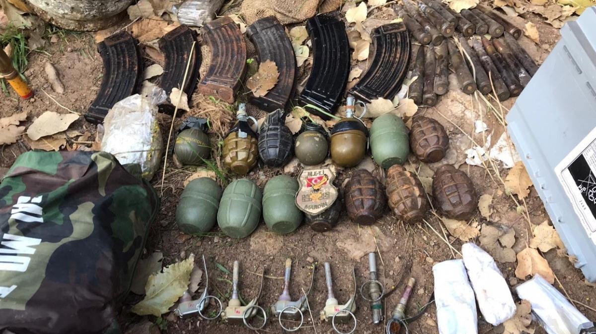 Pençe-Kaplan operasyonunda PKK'ya ait çok sayıda mühimmat ele geçirildi