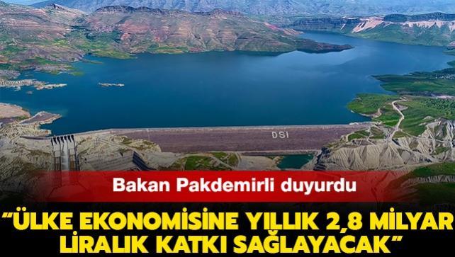 """Tarım ve Orman Bakanı Pakdemirli duyurdu: """"Ilısu Barajı tam kapasiteyle elektrik üretimine başladı"""""""