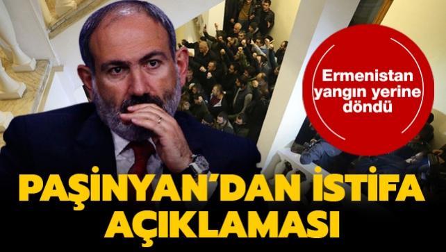 Ermenistan yangın yerine döndü... Paşinyan'dan istifa açıklaması