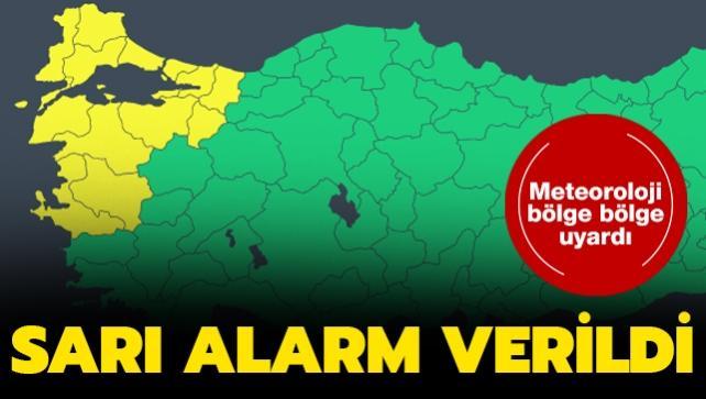 Meteorolojiden son dakika kuvvetli lodos uyarısı: Sarı alarm verildi