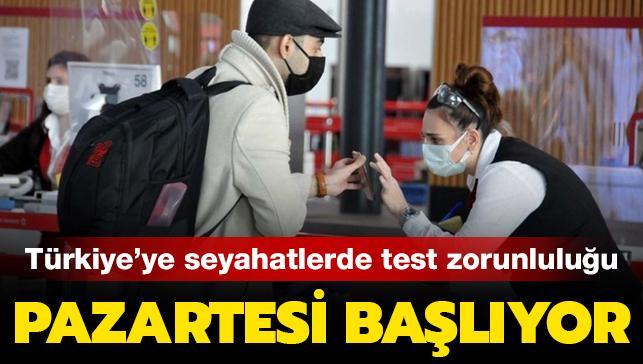 Son dakika haberleri... THY, yurt dışından gelen yolcular için negatif test ibraz etme zorunluluğu getirdi