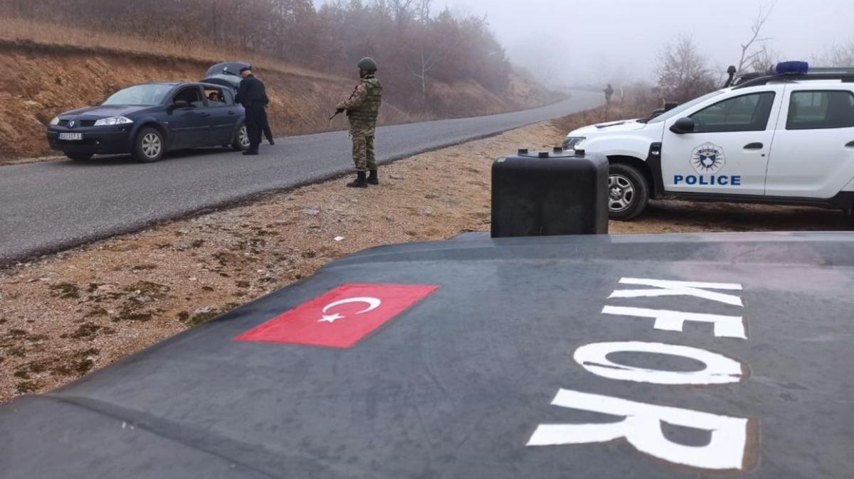 MSB duyurdu... Kosova Türk Temsil Heyet Başkanlığından Kosova polisi ile ortak yol kontrolü