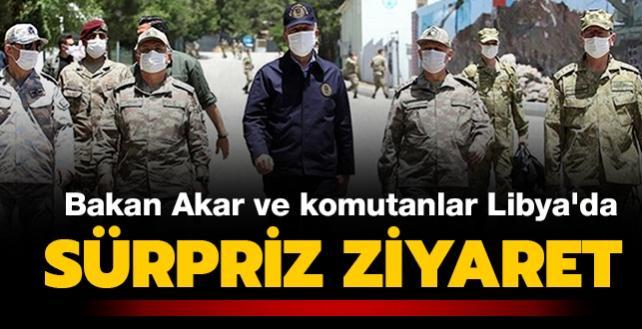 Son dakika haberi: Türkiye'den Libya'ya sürpriz ziyaret! Bakan Akar'dan dikkat çeken mesaj