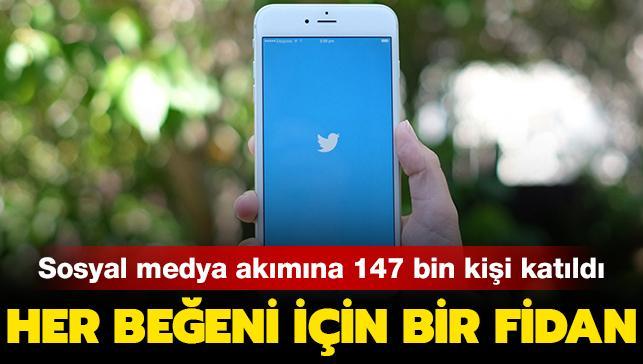 Her beğeni için bir fidan: Twitter'daki akıma Kırklareli Belediye Başkanı da katıldı