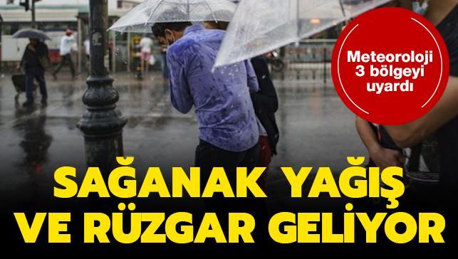 Meteorolojiden son dakika sağanak yağış ve rüzgar uyarısı