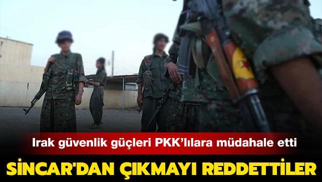 PKK Sincar'dan çıkmayı reddetti: Irak güvenlik güçleri 4 PKK'lıyı tutukladı