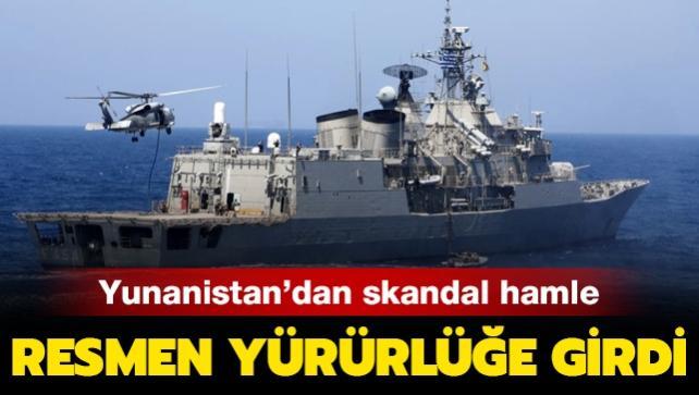 Yunanistan'ın İyon Denizi'ndeki kara sularını genişletme kararı Resmi Gazete'de yayımlandı