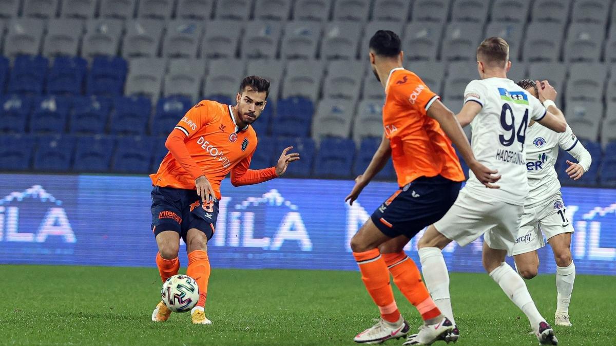 Başakşehir ile Kasımpaşa nefes kesen maçta yenişemedi