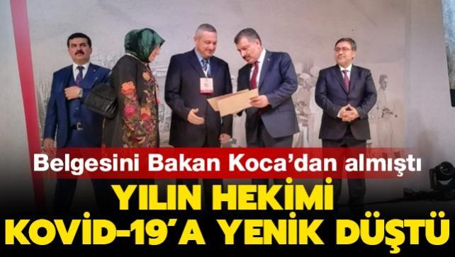 Son dakika haberi: Bursa'da 'yılın hekimi' seçilip ödülünü Bakan Koca'dan almıştı: Doktor Yavuz Durmuş koronavirüse yenik düştü
