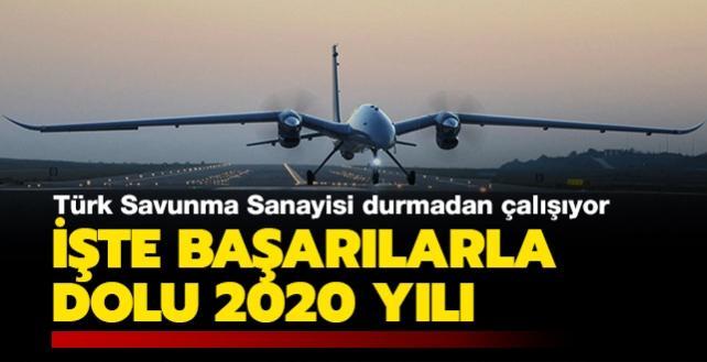Türk savunma sanayisi durmadan çalışıyor: İşte başarılarla dolu 2020 yılı