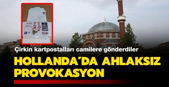 Hollanda'da ahlaksız provokasyon: Çirkin kartpostalları camilere gönderdiler