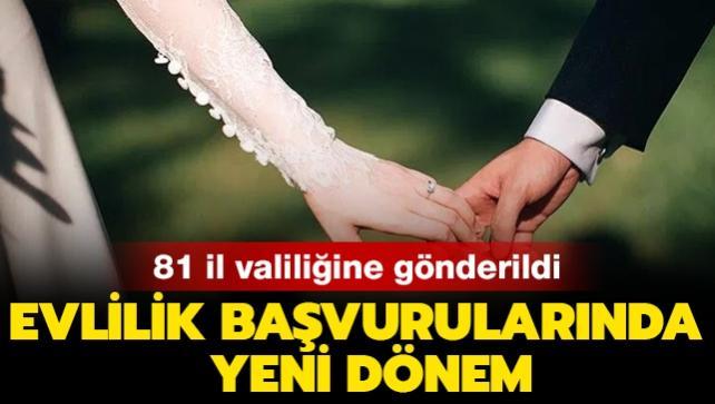 """İçişleri Bakanlığı'ndan 81 il valiliğine  """"Evlendirme İşlemleri"""" konulu genelge"""