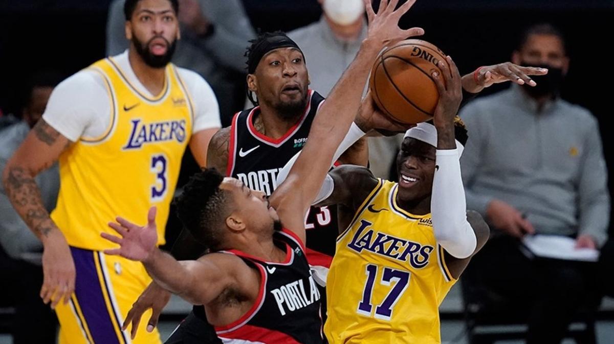 Los Angeles Lakers evinde Portland Trail Blazers'a boyun eğdi