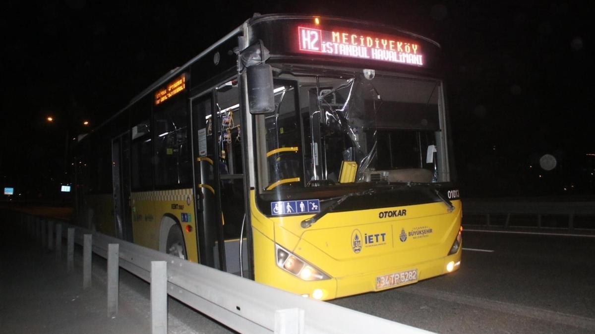 Son dakika haberleri... Kağıthane'de iki İETT otobüsüne saldırı
