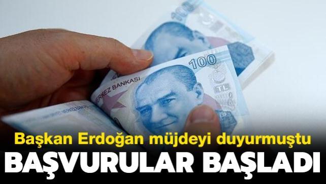 Son dakika haberi: Başkan Erdoğan müjdeyi vermişti: Esnaf ve sanatkarlara yönelik destek başvuruları başladı
