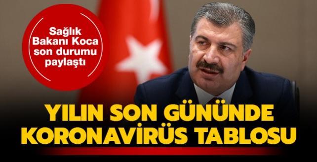 Sağlık Bakanı Koca açıkladı... İşte 31 Aralık koronavirüs tablosu