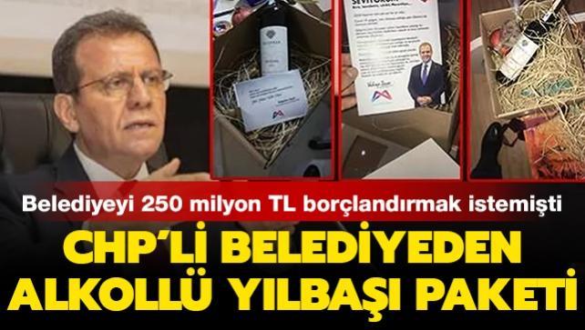 Sosyal medyaya bomba gibi düştü! CHP'li belediyeden üyelerine şaraplı yılbaşı paketi