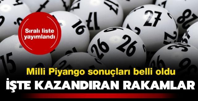 Milli Piyango çekiliş sonuçları açıklandı! Milli Piyango 31 Aralık 2020 sıralı tam liste yayında!